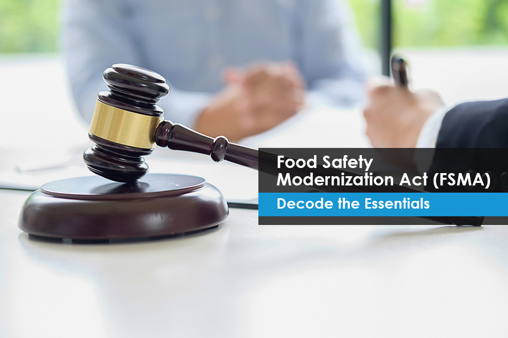 FDA finalized seven major rules as part of the FSMA