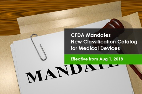 CFDA Published New Medical Device Classification Catalog