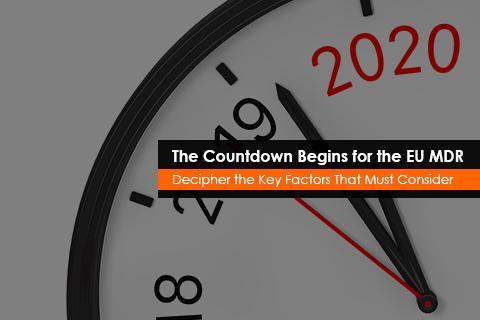 The Countdown Begins for the EU MDR - Decipher the Key Factors That Must Be Considered